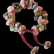 Rhodonite with multi-color Agate Bracelet