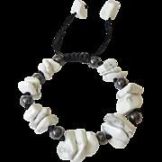 Howlite and Hematite Bracelet
