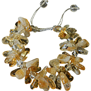 Citrine and Quartz Bracelet