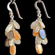 """Multicolor Moonstone Earrings 1.75"""""""