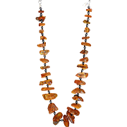 """Baltic Amber and Hematite Necklace 18"""""""
