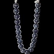 """Black Labradorite Necklace 18"""""""