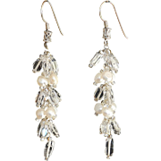Clear Quartz and cultured Freshwater Pearls Earrings