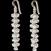 "Moonstone Earrings 2.5"""