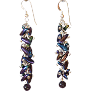 Firepolished Glass Earrings 2.25""