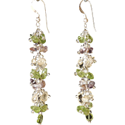 Peridot, Citrine and Amethyst Earrings