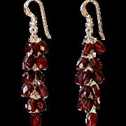 """Garnet Earrings 2"""""""