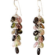Watermelon Tourmaline Earrings 2.25""