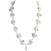 Quartz and cultured Freshwater Pearl Necklace