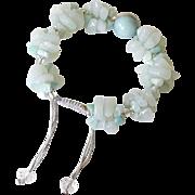 Amazonite Bracelet with Opalite