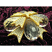 Vintage 1970s Kenneth Lane Maltese Cross Brooch Pin Runway Worthy!