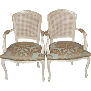 Louis XV Style Fauteuils - Pair