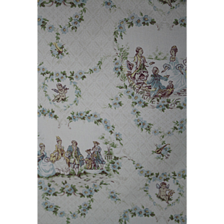 Brunchwig & Fils 'Mr. Pope's Toile' Cotton Fabric /3/ 6YD PIECES-18 YD total/Charming French Pastural Imagery Yardage