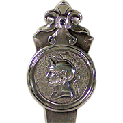Gorham Medallion sterling silver large solid ice cream server, Gorham Mfg. Company, circa 1864.