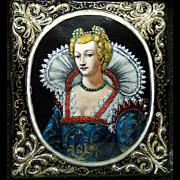 16th c. Limoges enamel portrait, Joseph Raymond (fl. 1590-1625) and studio, Limoges, France, circa 1595.