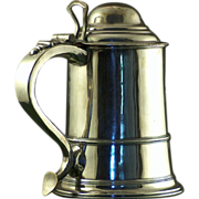 George III silver lidded tankard, probably Birmingham c. 1765