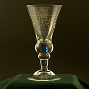 Whitefriars Diamond Engraved Goblet Commemorating the Coronation of George VI and Queen Elizabeth (The Queen Mother) Westminster Abbey 1937.