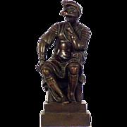 A 19th century Grand Tour table bronze of Lorenzo, Duke of Urbino, after Michelangelo, Florence circa 1820.
