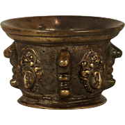 An unusual 16th century Italian cast bronze mortar, probably Venice, circa 1570