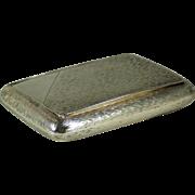 A late German Imperial silver and silver gilt cigarette case circa 1910.