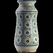 An early 17th century Spanish majolica drug jar in the Hispano-Moorish 'Manises' style, probably Talavera, circa 1620.