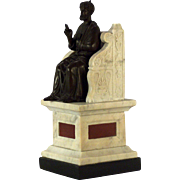 A large 19th century Grand Tour table bronze of the Vatican St. Peter, Rome, circa 1860