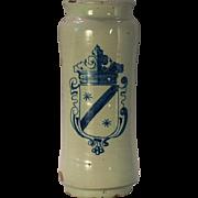A large late 17th century Talavera drug jar/albarello, Talavera-de-la Reina, Spain circa 1675