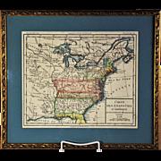 A scarce 1785 map of the United States showing the lost State of Franklin, Louis Brion de la Tour, Paris, 1785