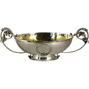 A large Imperial Russian silver and silver gilt table bowl, Grachev Brothers, circa 1900