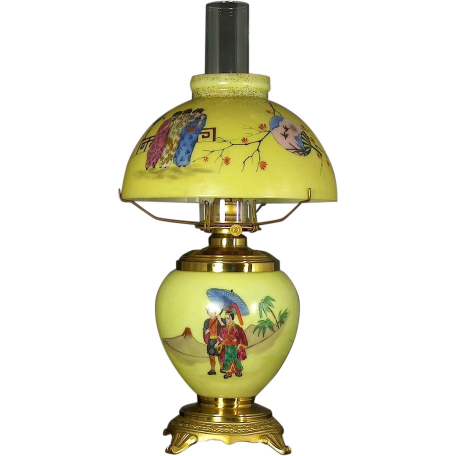 American Aesthetic Novelty Mikado Oil Table Lamp In