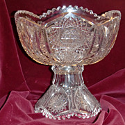 American brilliant cut glass punch bowl ABP superb cuts c.1905