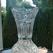 American Brilliant cut glass vase c.1905 ABP