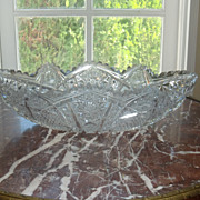 American Brilliant cut glass eclipse bowl ABP c.1905