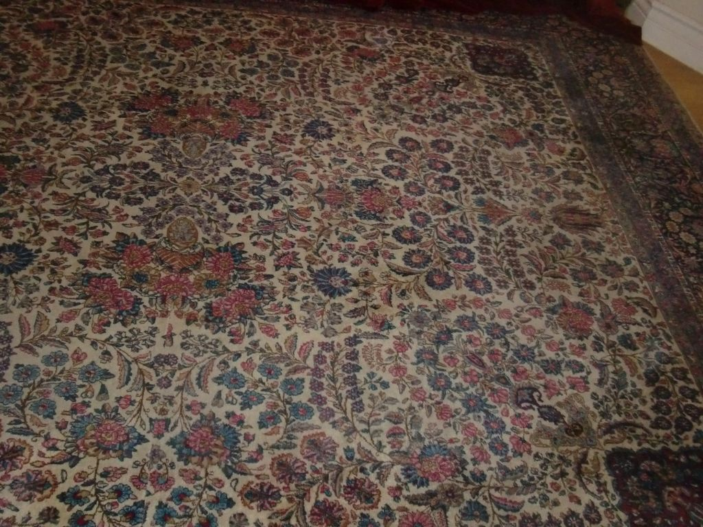 Antique Beautiful Lavar Kerman Hand Knotted Persian Rug C 1900 Sold Ruby Lane