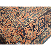 Antique Persian Sarough area rug, 105 by 139 inches, circa 1910 - Red Tag Sale Item