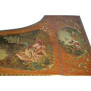 Important Original palatial  Hand painted museum grand piano, signed Emil Ascherberg, Dresden, 19th century