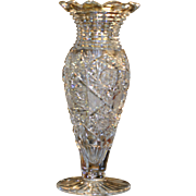 "American Brilliant Cut glass large vase, ""Rockwood Pattern"" by J HOARE, stunning , circa 1905"