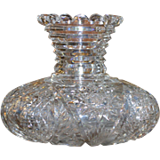 American Brilliant cut glass flower vase, circa 1905, ABP, stunning shape and pattern