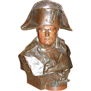 After R. Colombo, Italian patinated bronze statue of Napoleon Bonapart, circa 1885, life size
