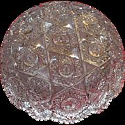 Very fine American Brilliant cut glass bowl, exquisite detailed cuts, circa 1905