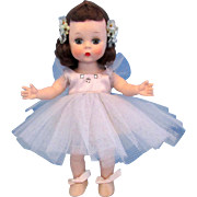 Vintage Madame Alexander kins 1954 Ballerina in Rare Cornflower Blue Tutu