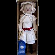Antique Cloth Baby Land Rag Original Box Blue Ribbon Winner