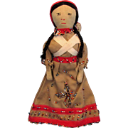 1930's Beaded Cherokee Native American Indian Doll - Museum Quality