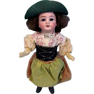 "Antique Bisque German Doll 6.5""~ All Original~""G K"" Sweden"