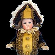 Heubach Koppelsdorf 250 Bisque Head Antique Polichinelle Doll