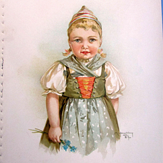 MAUD HUMPHREY 1889 Lithograph Young Girl - Frederick A. Stokes & Brother