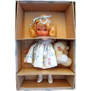 Nancy Ann Storybook Doll - #128 Goldylocks and the Baby Bear - Pudgy with Box