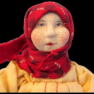 "6.5""  Russian Doll MASCHA Soviet Union Stockinette - Tagged"