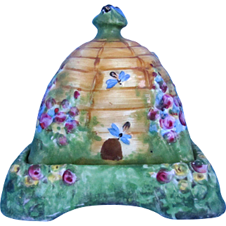Royal Winton BeeHive Cottage Ware Covered Butter with Stand