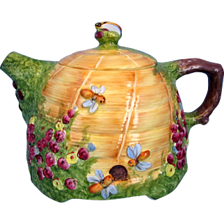 Royal Winton Beehive Teapot Hand Painted